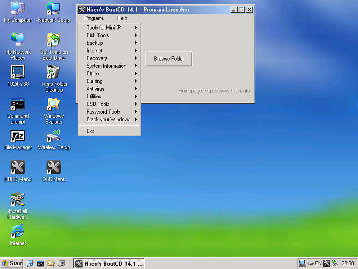 Hiren's Boot Cd 14.1 Full Tek Part İndir