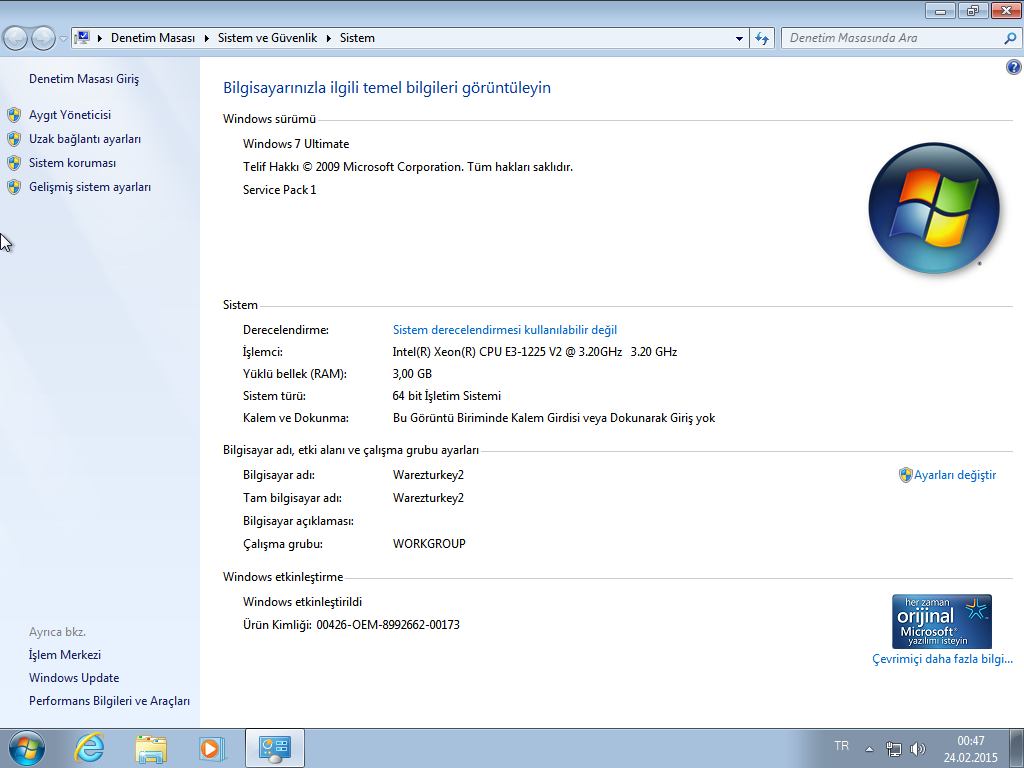 windows 7 ultimate sp1 64 bit t rk e kasim 2015 ndir full program ndir full program ar ivi. Black Bedroom Furniture Sets. Home Design Ideas